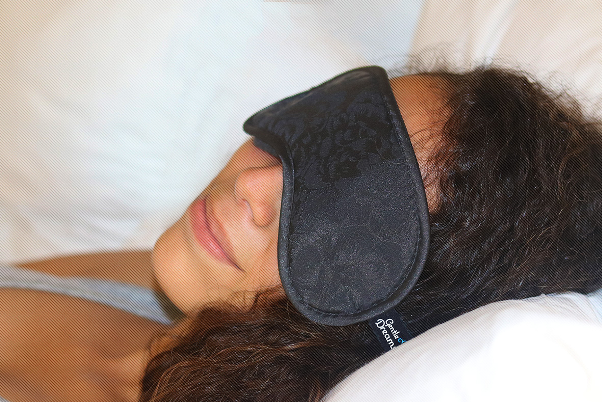 beauty rest while wearing sleep mask
